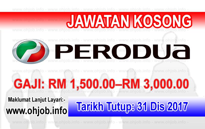 Jawatan Kerja Kosong PERODUA logo www.ohjob.info disember 2017