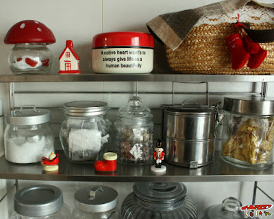 キッチンのクリスマス飾り