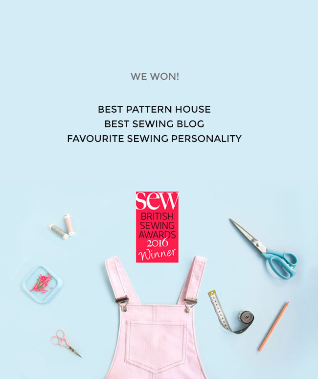 Tilly and the Buttons wins three awards in the British Sewing Awards 2016