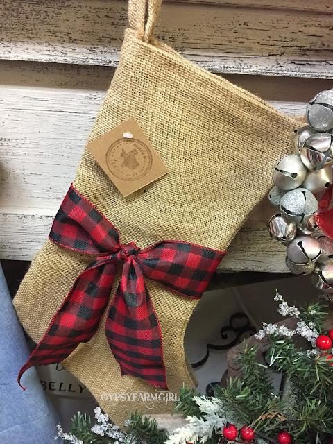 rustic Christmas stocking