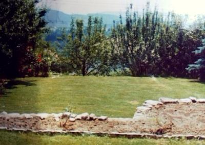 Il giardino della casa dove ho abitato ventenne, in Svizzera.