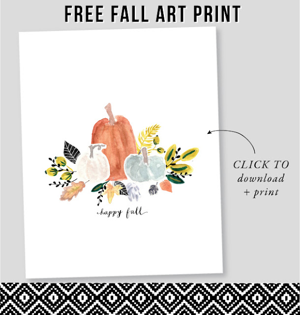 pumpkin watercolor printable