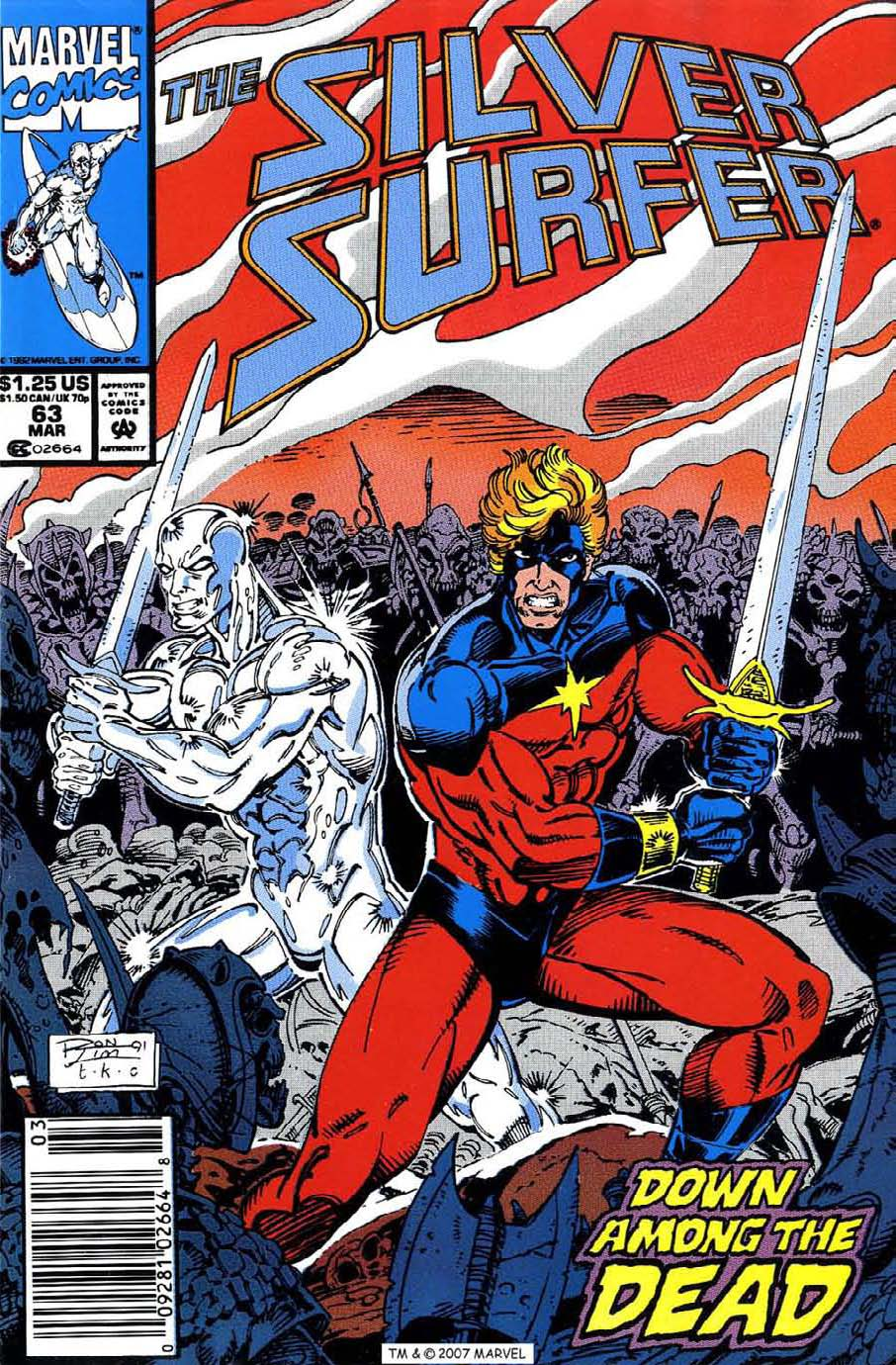 Read online Silver Surfer (1987) comic -  Issue #63 - 1