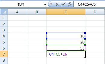 MS Excel में जोड़ना, घटाना, गुणा, भाग आदि करना सीखे