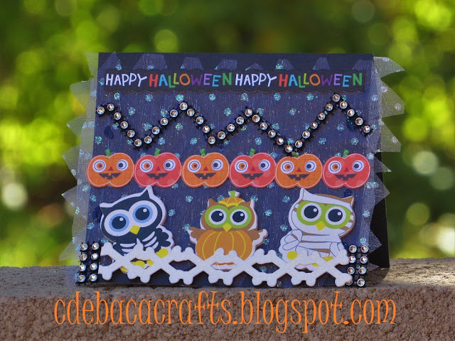 Handmade hallowen card perfect for kids featured on CdeBaca Crafts blog.
