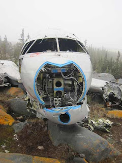 Front of Miss Piggy Plane in Churchill Manitoba.
