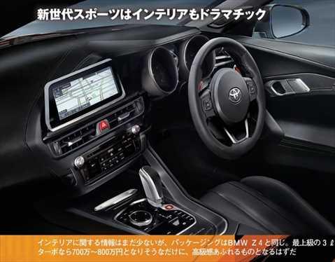 トヨタ新型スープラ 内装インパネ 画像