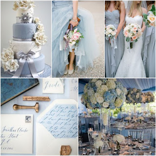 Decoración de bodas azul serenity