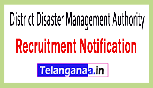 District Disaster Management Authority DDMA Recruitment