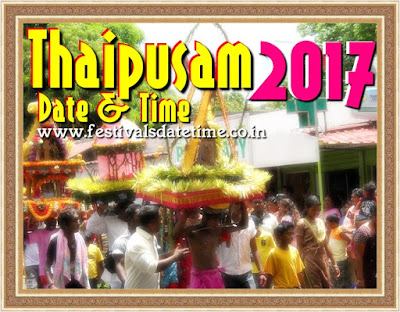 2017 Thaipusam Hindu Festival Date & Time In India