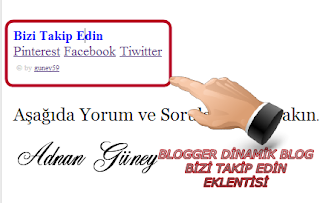 Dinamik Blog Follow Eklentisi