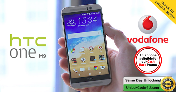 Factory Unlock Code for HTC One M9 from Vodafone