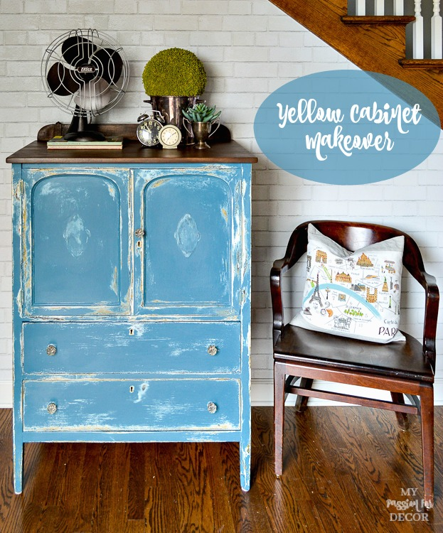The Yellow Cabinet Makeover