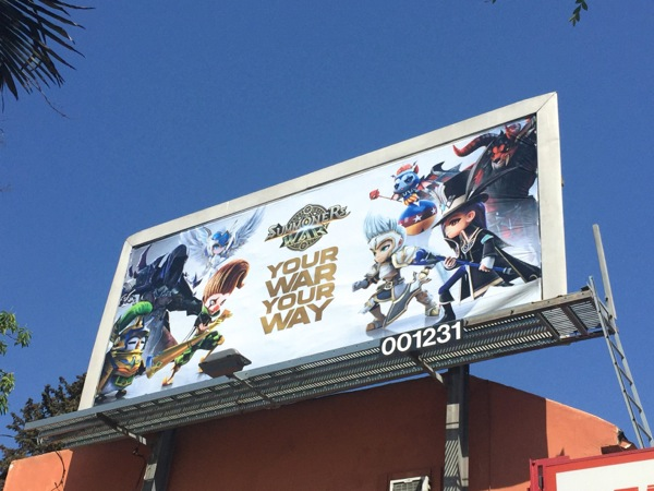Summoners War 2016 game billboard
