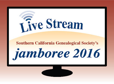 Register for SCGS Genealogy Jamboree Livestreaming - FREE on June 3rd to 5th