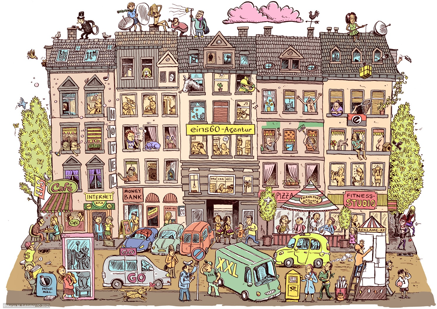 Wimmelbild Haus