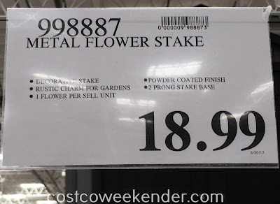 Deal for the Inside Outside Garden Metal Flower Stake at Costco