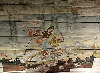 Św. Jakub pogromca pogan - malowidło z kościoła Św. Jakuba w Jakubowie