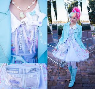 mintyfrills kawaii harajuku fashion valentine cute pretty rainbow hair