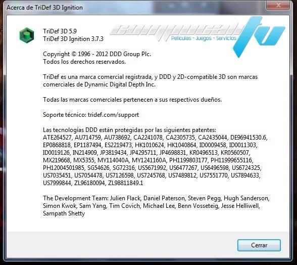 TriDef 3D Versión 5.9 Español