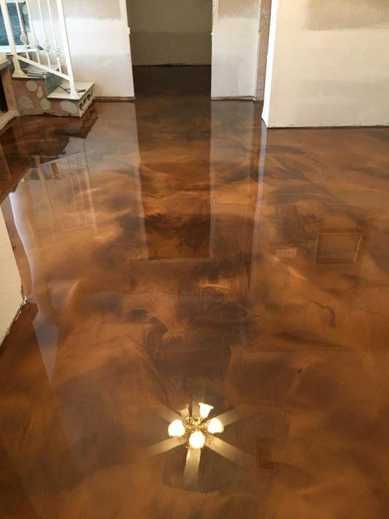 Best 50 Metallic Epoxy Floor Design Options For Modern Home Flooring
