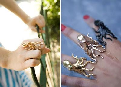 Diseño de anillo de pulpo