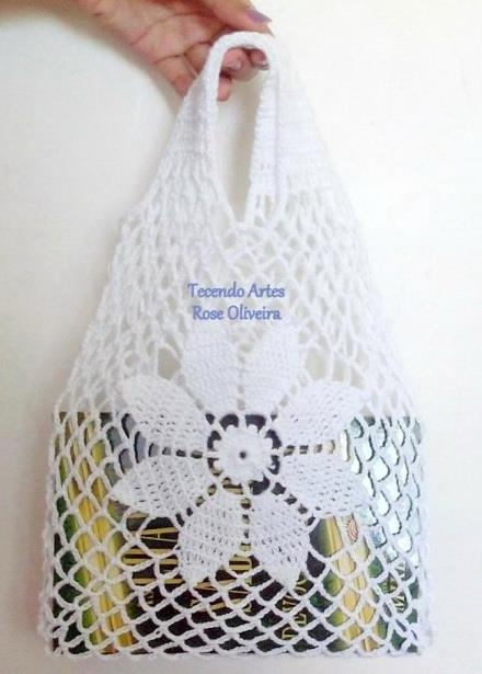 Crochet bag, easy, for market