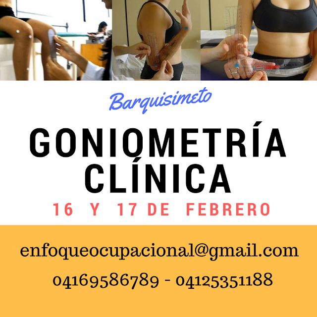 """Goniometría, Goniometria clinica, Curso, Taller"