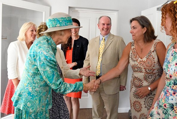 Britain's Princess Alexandra visited FitzRoyUK in Suffolk to officially open Stepping Stones service. Queen Elizabeth's first cousin