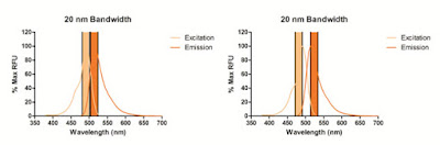 excitation and emission values