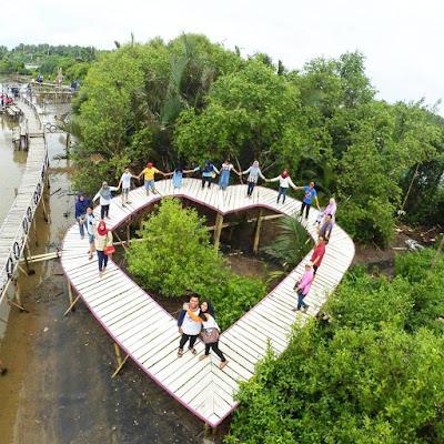 Hutan Mangrove PIK Spot Foto Logo Hati