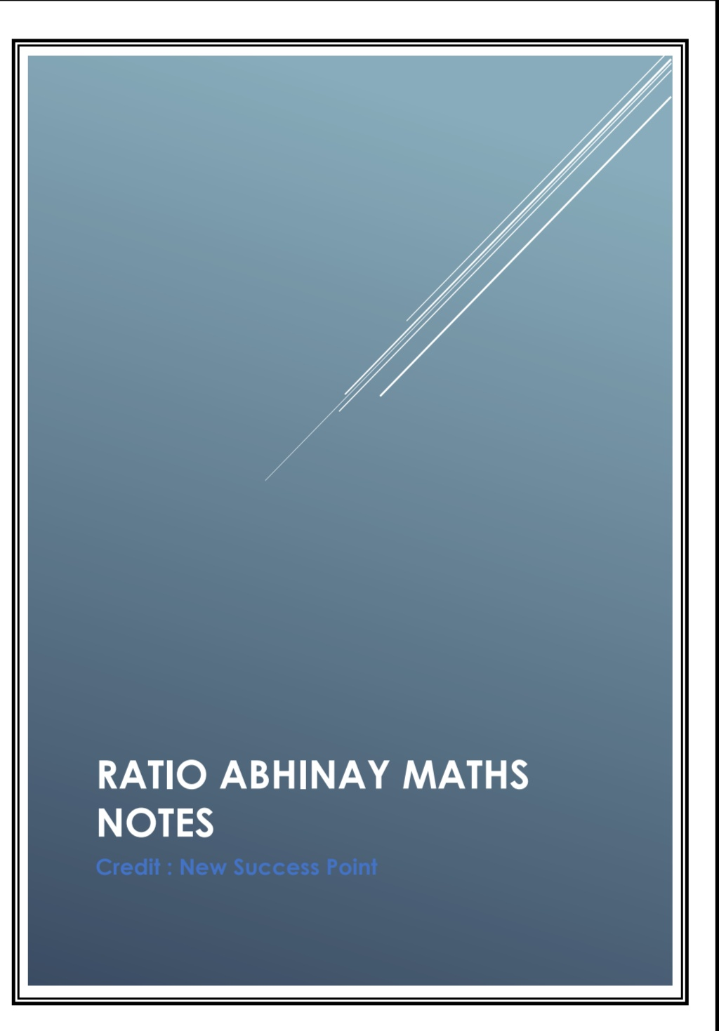 Abhinay Sharma : Handwritten Ratio Notes - Gk Veda ERROR 404