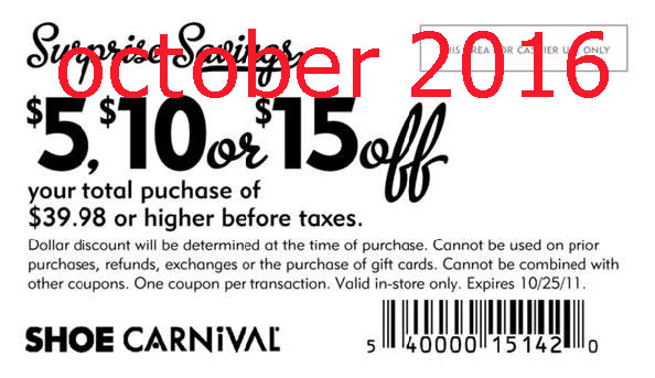 Coupon carnival shoes