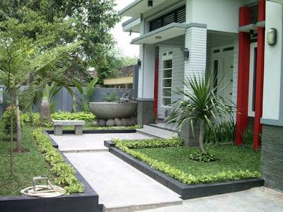 gambar taman rumah minimalis depan rumah terbaru