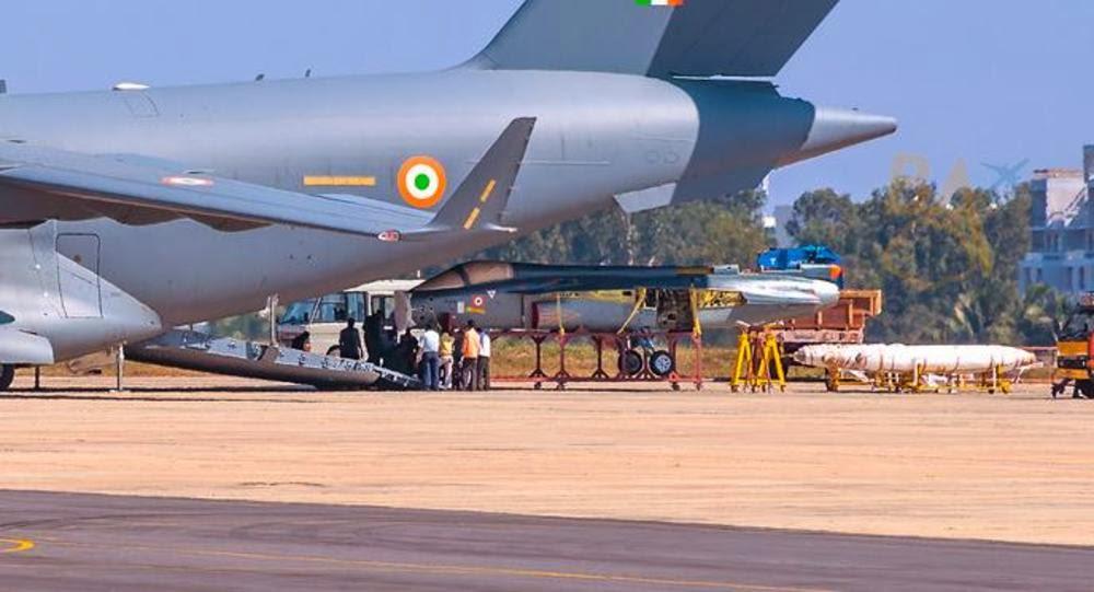 Indian C-17 Globemaster III Transport Aircraft Carrying LCA