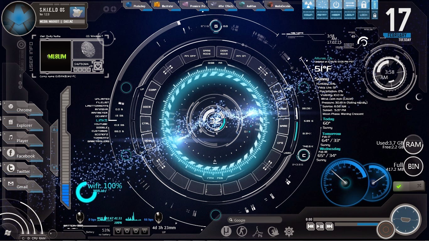 Arc Reactor Desktop Using Rainmeter – Migliori Pagine da Colorare