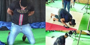 S. Africa-based Nigerian pastor, Anointed, makes congregants lick his shoes to receive miracle money