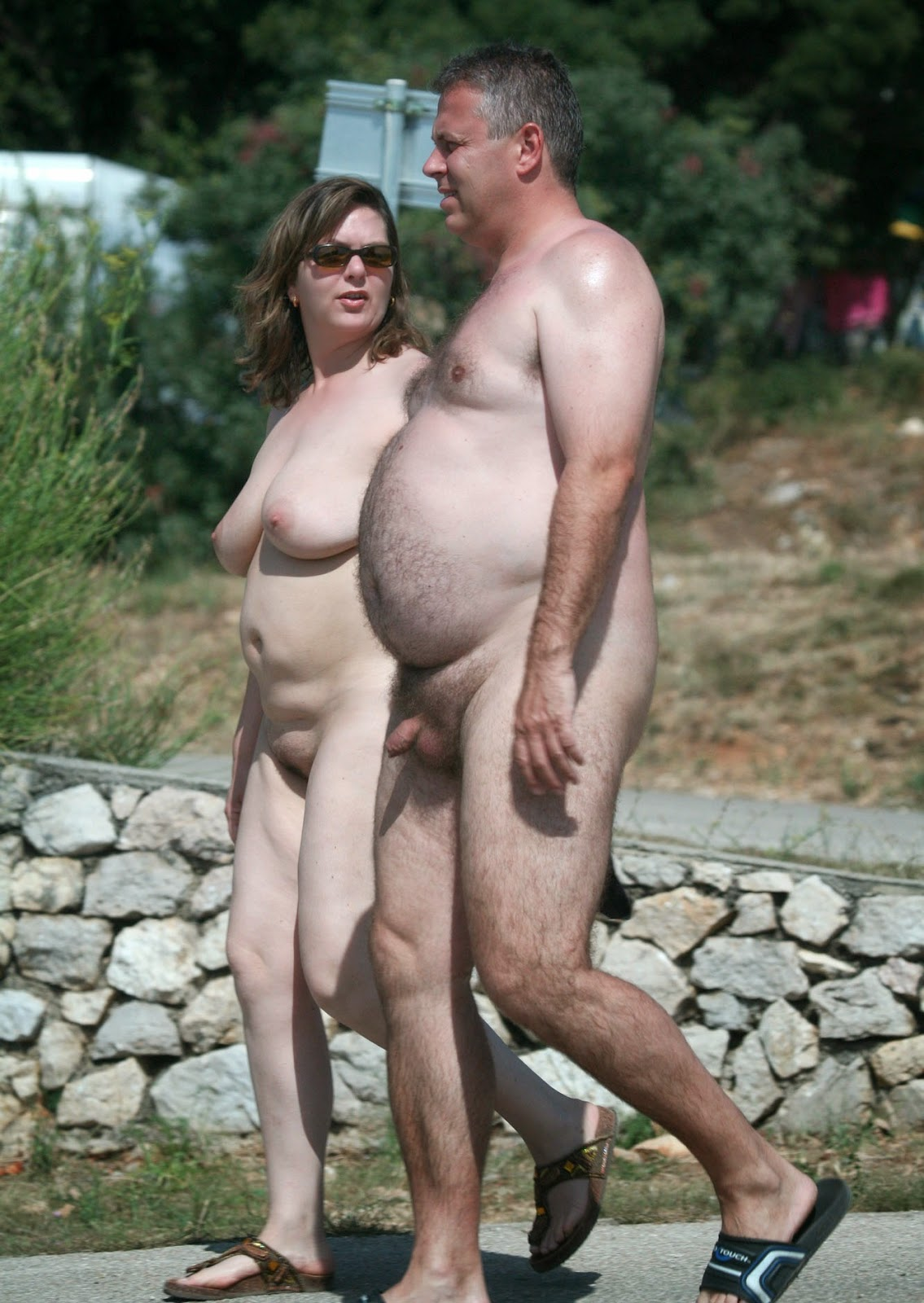 nude couples camping