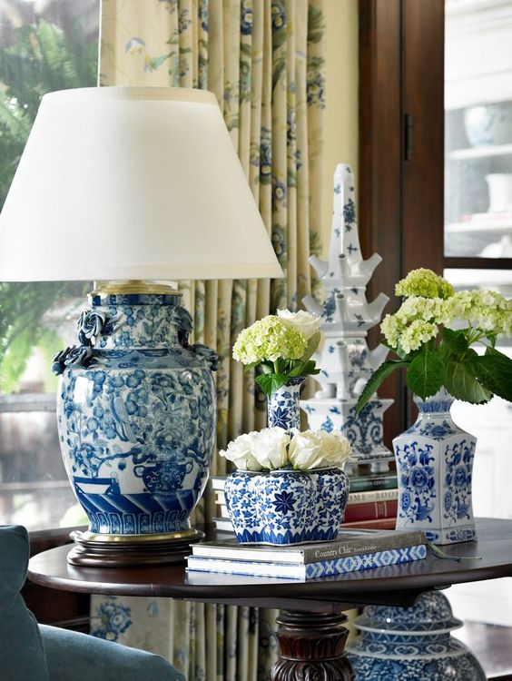 Eye For Design Decorating With Blue And White Tulipieres