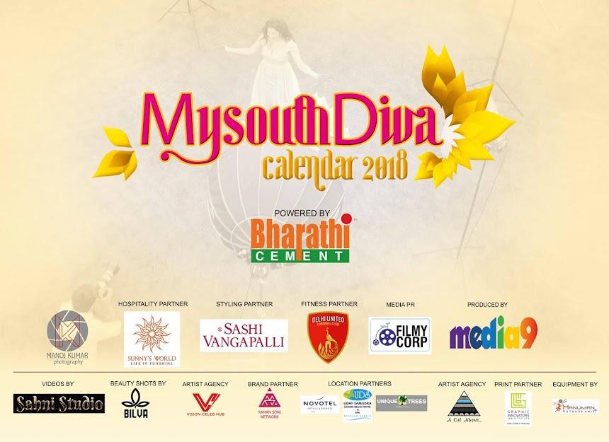 My South Diva Calendar 2018