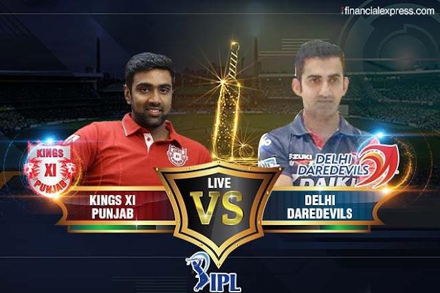 दिल्ली ने पंजाब के सामने रखा 167 रनो का लक्ष्य - गंभीर का अर्धशतक