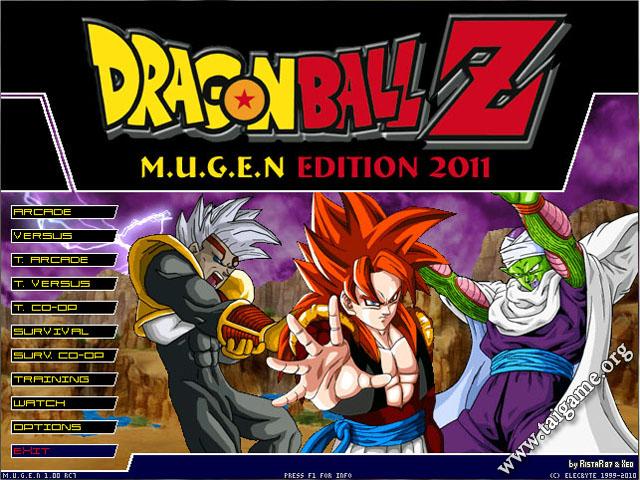 o jogo dragon ball z mugen edition 2011