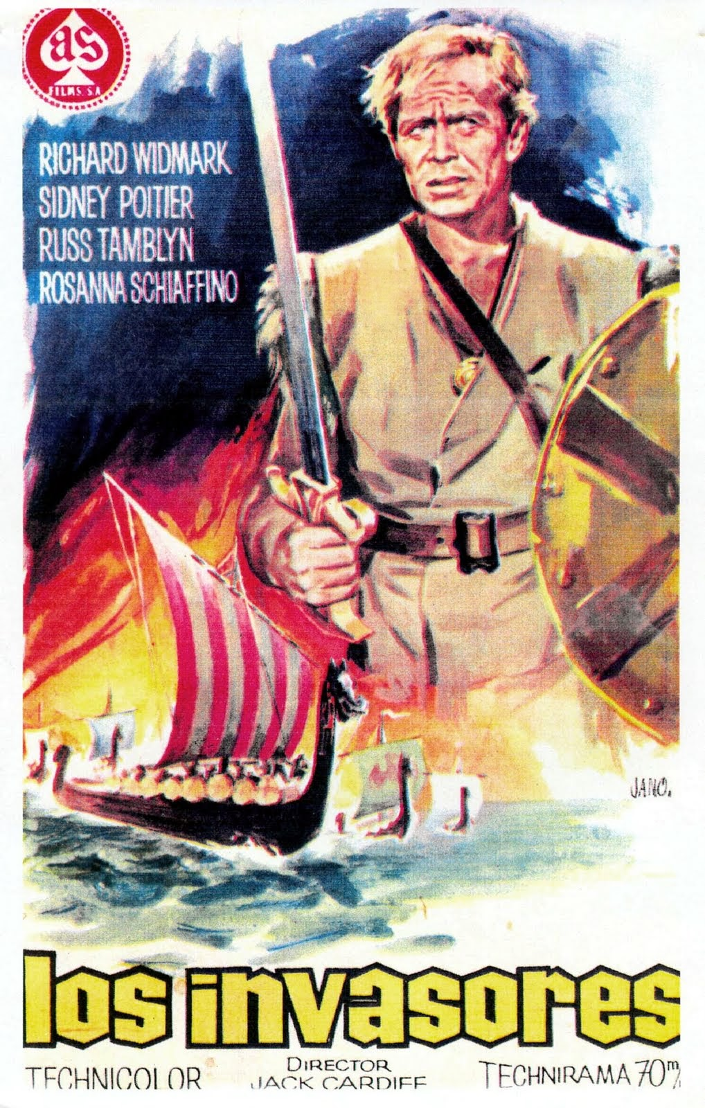 Los invasores | 1963 | The Long Ships, cover dvd, carátula