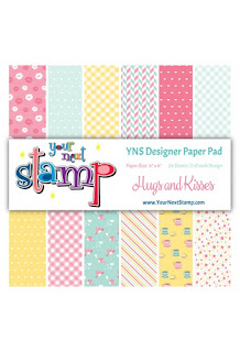YNS Designer Paper Pad Hugs and Kisses