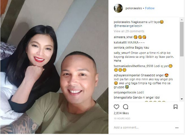 Polo Ravales Took A Photo With Angel Locsin As They Reunites In La Luna Sangre!