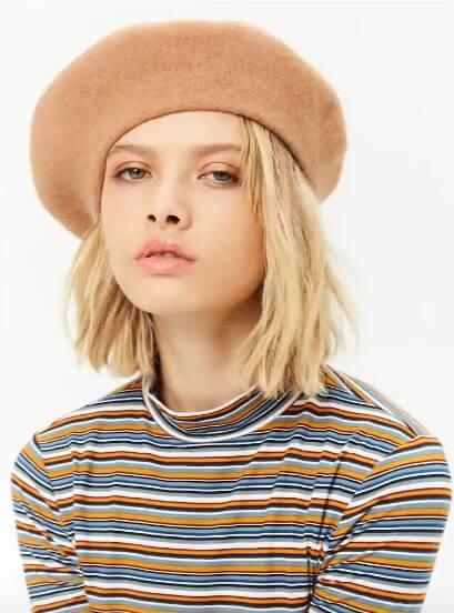 Forever 21 wool blend beret
