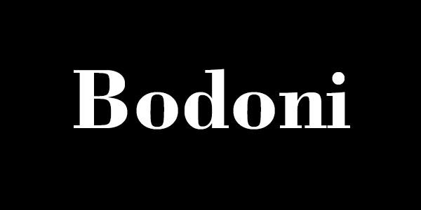 Free Bold Serif Font - Bodoni Bold