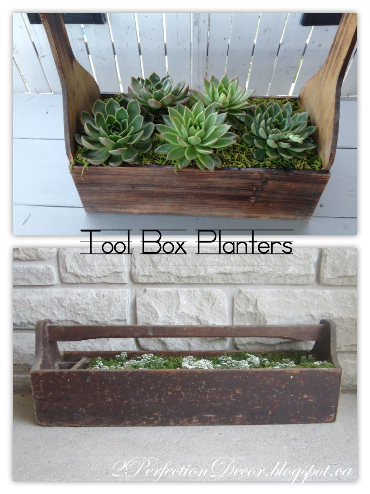 2perfection Decor Antique Tool Box Into Planter Makeover