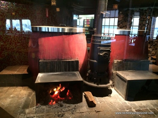 red Chinese wood-fired ovens at Trader Vik's in Emeryville, California