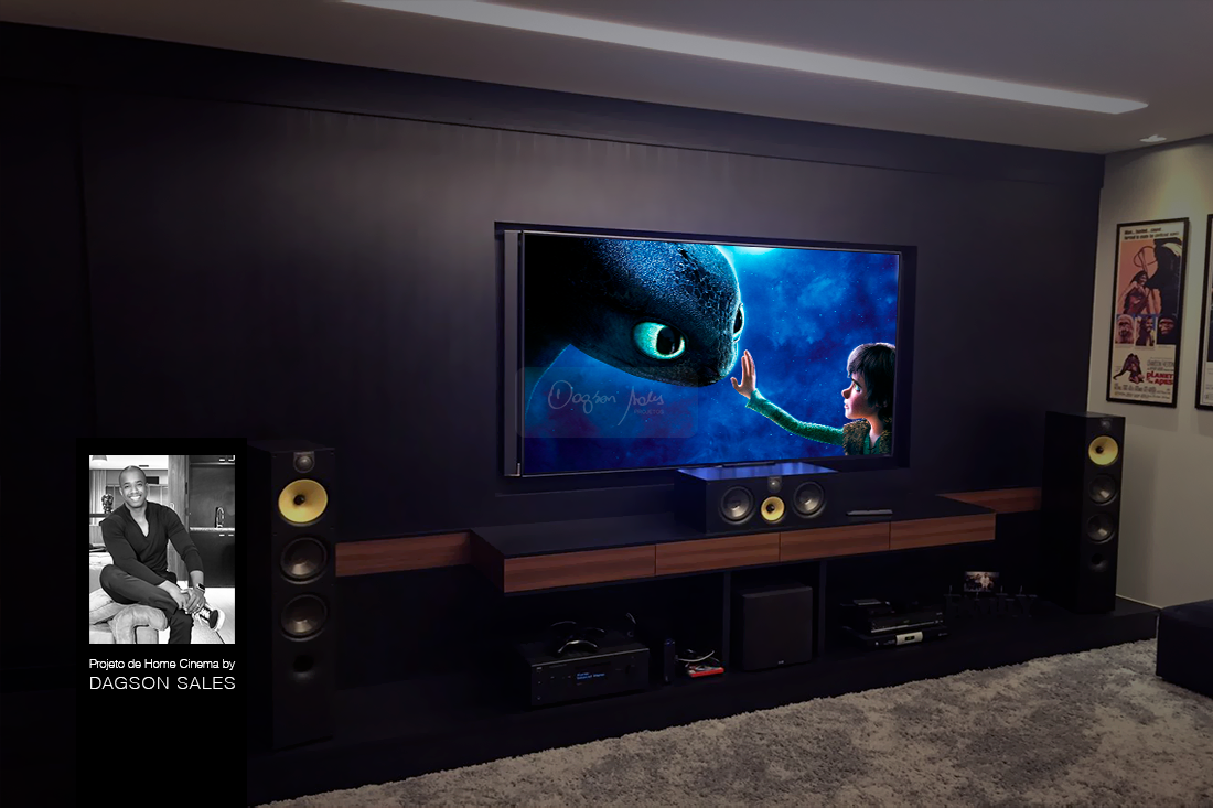 Dagson Sales assina projeto de home theater para luxuosa residência em Alphaville / SP
